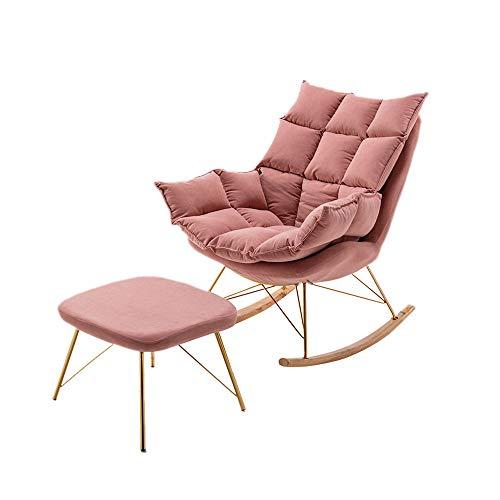 CJSWT Relájese Mecedora, sillón reclinable y sillón de Dibujos de escuchas, sillón tapizado de Chimenea para la Sala de Estar de la Sala de Estar, salón Alto Espalda Ocio sillón