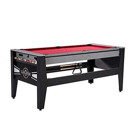 Lancaster Gaming 4 in 1 Table with Air Hockey, Billiards, Table Tennis, and Football