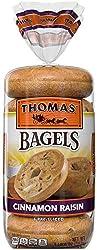 Thomas' Cinnamon Raisin Soft & Chewy Pre-Sliced Bagels, 6 count, 20 oz