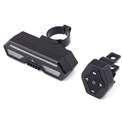 ZJY Drahtlose Fernbedienung Fahrradheck Blinker - USB Lade IPX4 Wasserdicht - für Fahrsicherheitswarnungen - Ideales Outdoor Fahrradzubehör