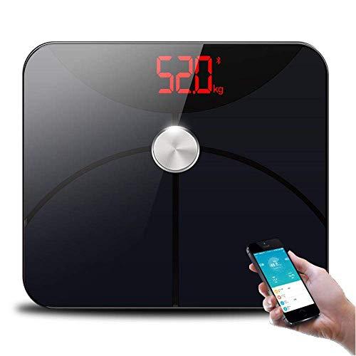 BINGFANG-W Báscula de baño Báscula, Electronic Peso básculas de Suelo Escalas de medición del Cuerpo Body Balance Digital, 180Kg / 400 Libras Negro Cocina