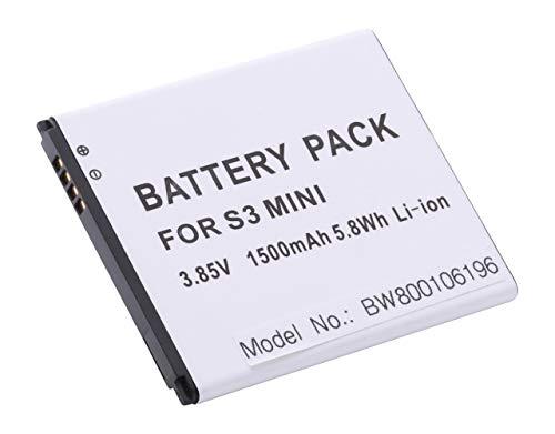 vhbw Li-Ion Akku 1500mAh (3.8V) für Handy Telefon Smartphone Samsung Galaxy S3 Mini, Value Edition, GT-I8190, GT-I8200, Trend Plus wie EB-LIM7FLU.