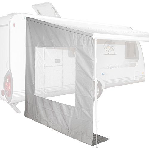 Bo-Camp Universal-Seitenwand mit Fenster für Markise, grau, 225x213x290-250x234x290 cm (250 x 234 x 290 cm)