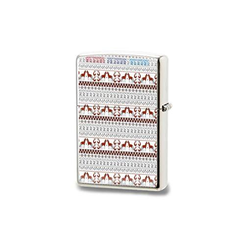LESIF Feuerzeug, russisches nahtloses Mesenka-Stil, Muster, Muster, winddicht, wiederverwendbar, verstellbar, Flamme für Grill, Kerze, Grill, Feuerwerk, Herren, Geschenkbox, Schwarz