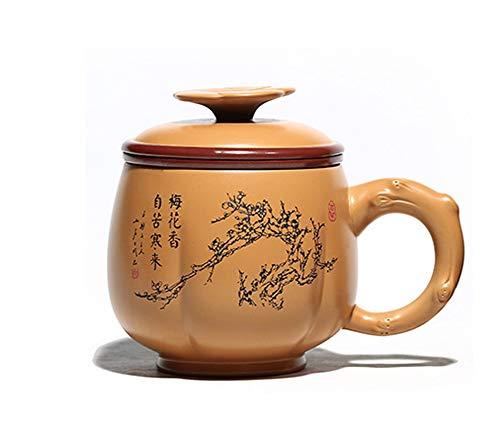 Taza de té de Arena púrpura Taza de Agua Juego de té Taza de automóvil Taza de Salud Bebida Taza de té para Enviar Regalos de Amigos Letras comerciales Personalizadas al por Mayor, hervidor de AG