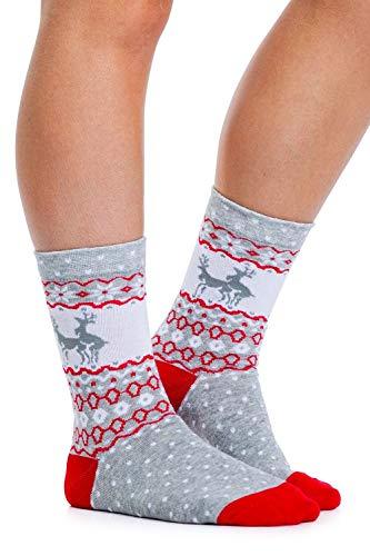 Women's Humping Reindeer Socks - Funny Festive Christmas Socks