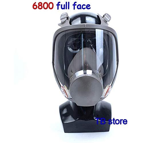 SHENXX Protección Respiratoria De Máscara Completa, Cuerpo Principal 6800, Usado con Caja De Filtro, Antigás, Especial para Protección De Seguridad Pública