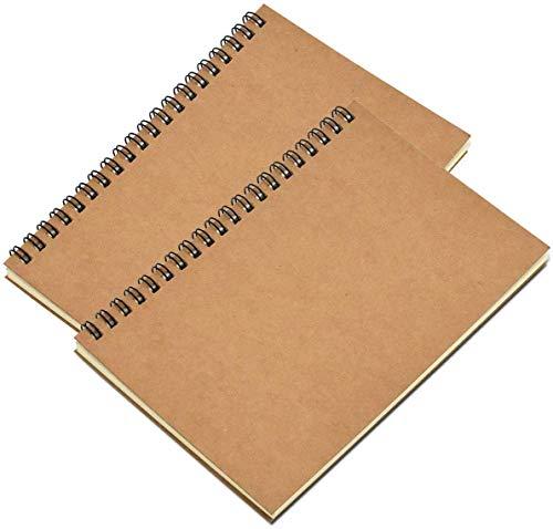 CYSJ Espiral Cuaderno de Bocetos A5, Pack de 3 Cuaderno de Dibujo Bloc de Notas en Blanco,100 Páginas / 50 Hojas - Perfectopara Acuarela, Pintura Acrílica y al Óleo