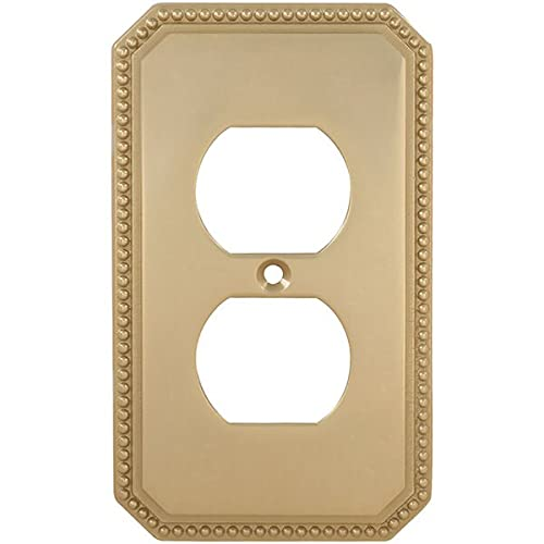 Omnia Single Max 56% OFF Outlet Receptacle Bright Brass Beaded Max 80% OFF Switchplate