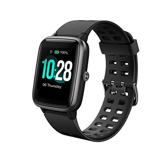 Portronics YOGG Kronos-a Smart Watch Fitness Tracker, Touch Color Screen, Heart Rate Monitor, Music Control, Activity, Calories, Sleep, Social Notifications, IP68 Water & Dust Resistant, Black