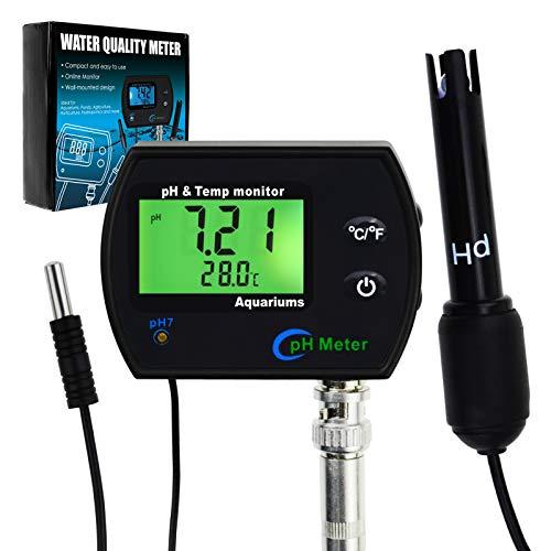 Medidor De Monitor Continuo De PH Y Temperatura 2 En 1 Con Retroiluminación Electrodo Reemplazable …