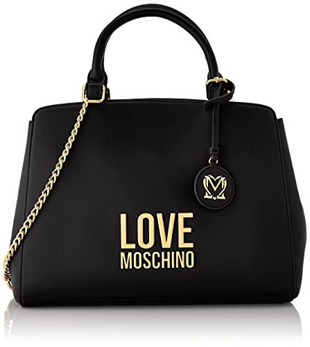 Love Moschino, Borsa a Spalla da Donna, Pre Collezione Autunno Inverno 2021, Nero, Taglia unica