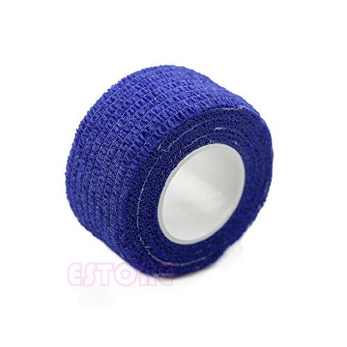 Yiwann Bande de kinésiologie, bande élastique pour l'exercice, 1 rouleau de ruban adhésif de sport pour le sport et la récupération des blessures bleu