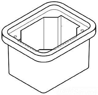 Quazite PC0608BA06 Precast Polymer Concrete Fiberglass Reinforced Straight Underground Concrete Box With Standard Open Bottom 8 Inch x 6 Inch x 6 Inch