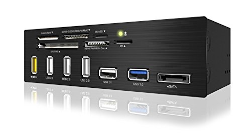 EZDIY-FAB 5.25 inch USB 3.0 Multi-Card Reader with USB Charging Port(6-Slot Card Reader, 1x USB 3.0, 4X USB 2.0, 1x eSATA, USB-Charging Port)