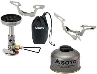 SOTO 3点セット マイクロレギュレーターストーブウィンドマスター パワーガス105トリプルミックス ゴトク ソト SOD-310 SOD-710T SOD-461