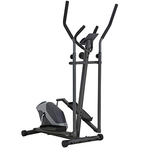 Elliptical Machine Exercise Bike With 8 Level Resistance and Digital Monitor Elliptical Training Machine For Home Use Max Weight Capacity 242lbs