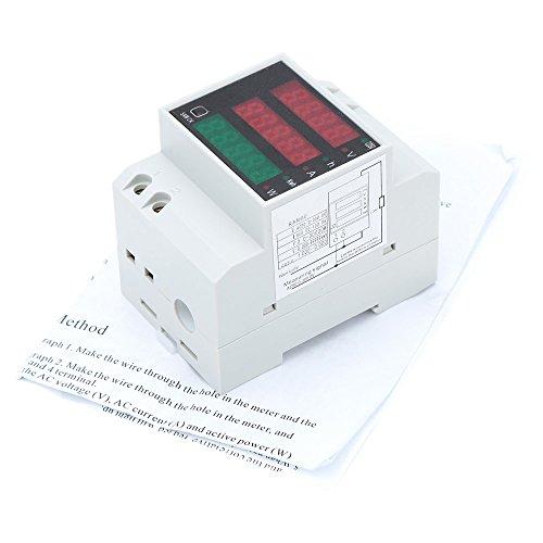 KKmoon AC80-300V 100A Poder Factor Metro Amperímetro Voltímetro...