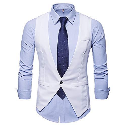 Heren Classic Paisley Bloemen Taillejas Tweed pak Vest Slim Fit
