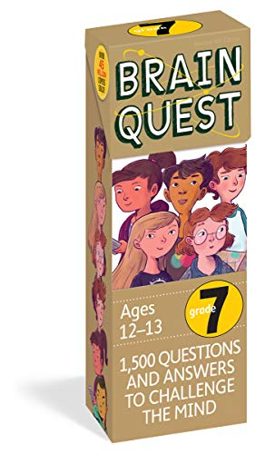 Brain Quest 7th Grade Q&A Cards: 1,500 Questions and Answers to Challenge the Mind. Curriculum-based! Teacher-approved! (Brain Quest Decks)