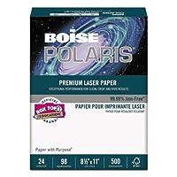 Boise HD:P プレゼンテーションレーザー用紙、96輝度、28ポンド、8-1/2x11、ホワイト、500/連。
