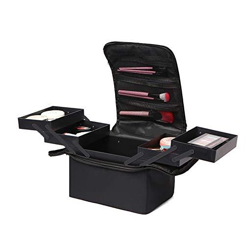 Vanity Case Beauty - Boîte de rangement pour cosmétiques et vernis à ongles - Noir