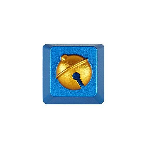 HONGB Tapas Personalizadas De Bell, Teclas Personalizadas De Teclado Mecánico De Aleación De Aluminio, Teclas De Eje Transversal (Incluidos Extractores De Teclas)