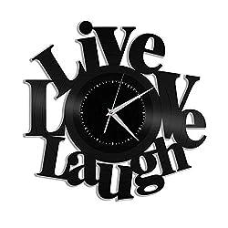 Art & Home Live Love Laugh Vinyl Wall Clock Souvenir