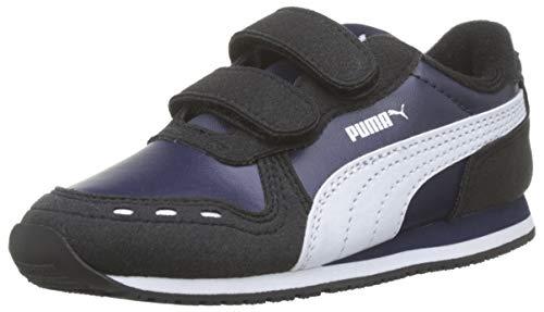 Puma Cabana Racer Sl V Inf, Unisex-Kinder Sneakers, Blau (Peacoat-Puma Black-Puma White 75), 22 EU