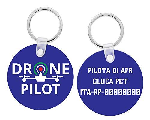Fashion Graphic Portachiavi Pilota Apr Drone Pilot Operatore Sapr Personalizzato Legno Mdf Tondo