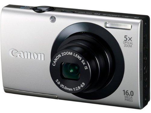 Canon PowerShot A3400 IS Digitalkamera (16 MP, 5-fach opt. Zoom, 7,6cm (3 Zoll) Touch-Display, bildstabilisiert) silber