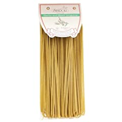 Naturally flavored pasta Produced with bronze die cuts which provide a rougher texture to absorb more flavor from the sauce Slowly dried at low temperature which allows for more even cooking Product of Italy Enjoy our Garlic and Basil Linguine with a...