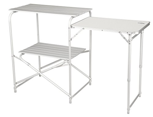 Alpine Mountain Gear Roll Top Kitchen Table, Grey, Large (AMG006)