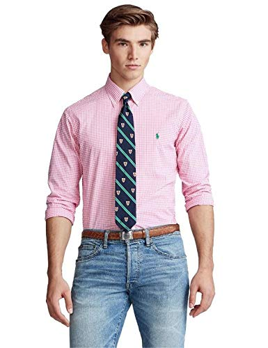 Ralph Lauren Camisa Cuadros Vichy Rosa para Hombre M