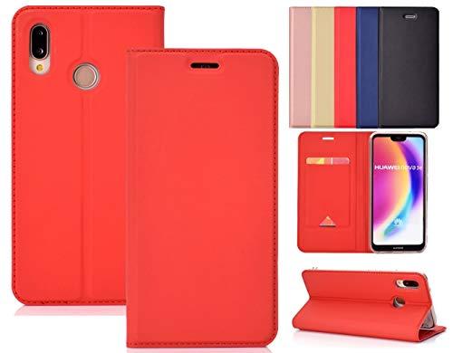 NUU Mobile X6 Case, [Kickstand] [Card Slot+Side Pocket] Premium Soft PU Color Matching Leather Wallet Cover Flip Case Protective Case for NUU Mobile X6 (Blue)