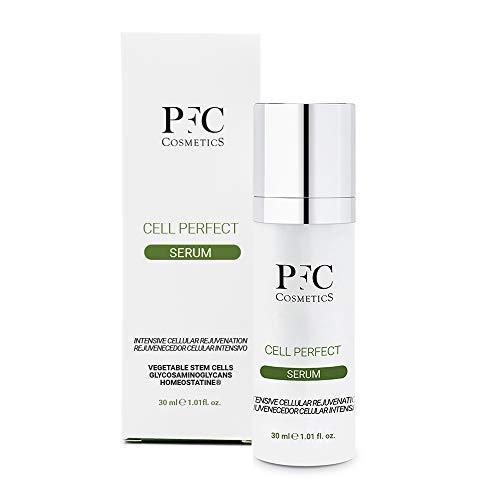 PFC Cosmetics Anti-Wrinkle Serum with Plant Stem Cells Facial Lotion with Jojoba Oil Argireline Hydrolite 5 Homeostatine Hydroviton Ceramides Vitamin C+ Complex and Glycosaminoglycans.