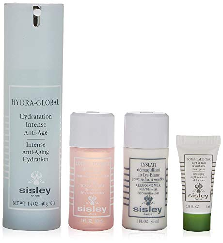 Sisley Crema Hydra-Global + Leche Desmaquillante Lyslait + Tónico Floral + Tratamiento...