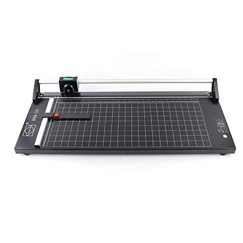 Manual Precision 24 Inch Rolling Cutter Rotary Photo Paper Trimmer Cutting Size 0-610MM,Free Blade