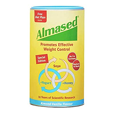 Almased UK SOYA Yogurt and Honey Meal Replacement for Weight Loss Almond-Vanilla Flavour, 500 g