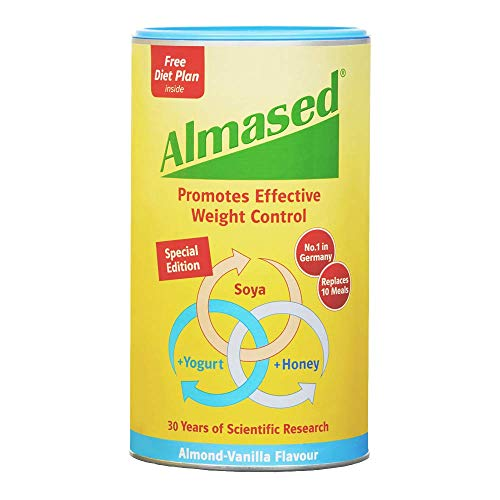 Almased UK SOYA Yogurt and Honey Meal Replacement for Weight Loss Flavour, Almond-Vanilla, 500 Gram