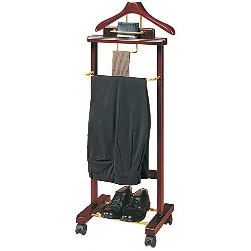 Galán De Noche Mueble Madera Maciza para Colgar Camisas, Pantalones Baño Oficina Dormitorio para Hombre- L 41 x W 35 x H 116CM