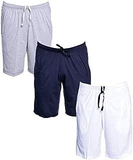 VIMAL JONNEY Multicolor Cotton Blended Bermuda Shorts for Men(Pack of 3)-D12-ML_NV_WH_03-P
