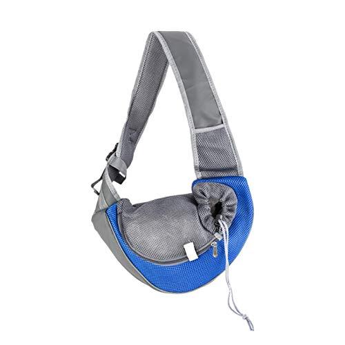Winne Mochila para mascotas-Mochila de viaje para mascotas-Talla S Adecuado para mascotas pequeñas eslinga-Correa ajustable - Tela transpirable - Azul
