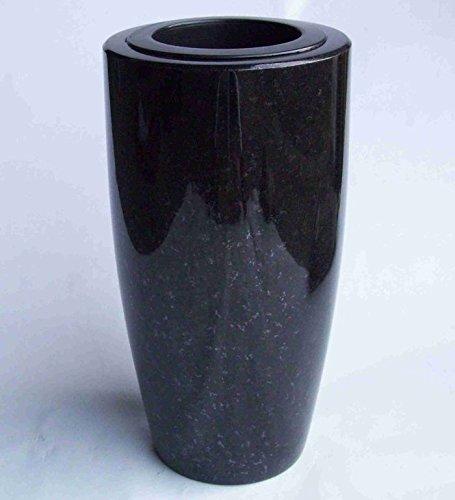 designgrab Elegance XL Grabvase aus Granit Schwedisch Black SS1 schwarz