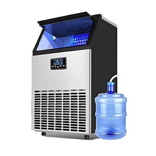 YLDXP Máquina para Hacer Hielo para encimera, máquina para Hacer Cubitos de Hielo portátil, Pantalla LED autolimpiante de bajo Ruido, Ideal para el hogar, Cocina, Oficina, Restaurante, Bar, cafete