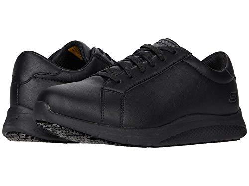 Skechers Women's Lace up Athletic Food Service Shoe, Black, 5.5
