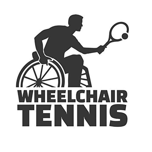 Wandaufkleber Wandtattoo Wandsticker Rollstuhl Tennisspieler Silhouette Sport Teen Spiel Wohnzimmer Kinderzimmer Schlafzimmer Dekor 55 × 57 cm