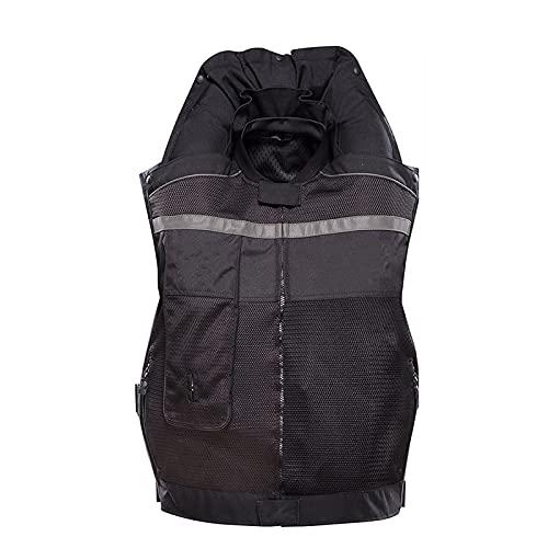 Chaleco De Moto Con Airbag Tejido De Nailon 50OD, Antiincrustante Y Resistente Al Desgaste. Aplicación Repetible (M-2XL, Sin Cartucho De CO2) Equipo de ciclismo ( Color : Black , Tamaño : XL )