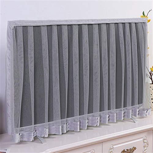 HUOQILIN - Funda de protección contra el polvo para televisión LCD de 50 pulgadas de 55 pulgadas y 65 pulgadas para televisor con pantalla de encaje (color: gris, tamaño: XL)