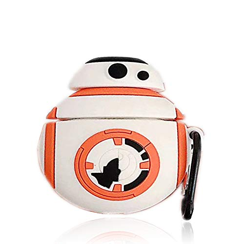 Airpod Pro Hülle, Cute 3D Spaß & Stilvolle Getränkeflasche Star Wars BB-8 Roboter Corona Bier Silikon Hülle Geeignet für Jungen & Mädchen Airpod Pro Hülle (pro/BB-8)